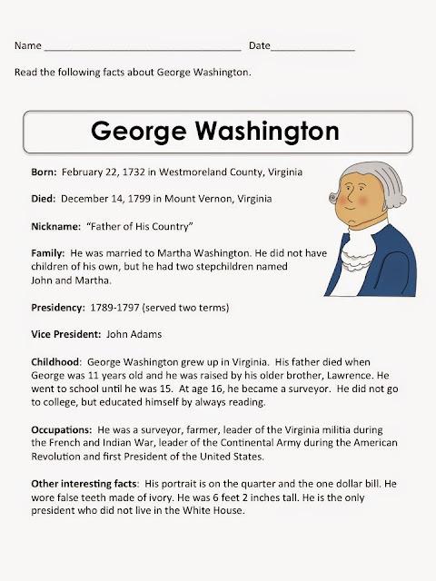 Presidents Day George Washington's Birthday Crafts