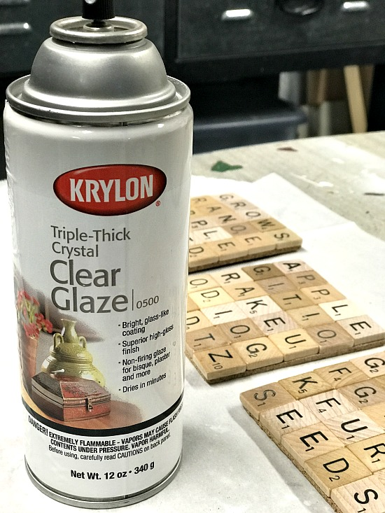 Beach themed Scrabble tile Coasters with Triple thick clear glaze