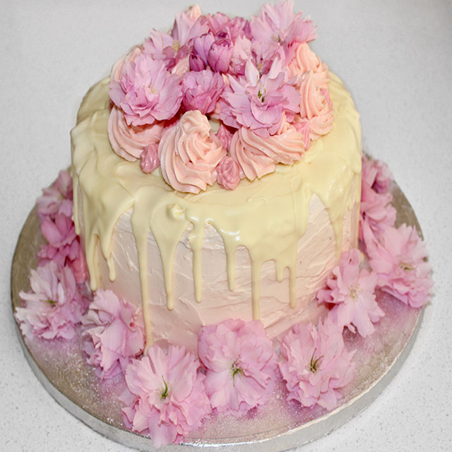 Pink Champagne Rose Cake