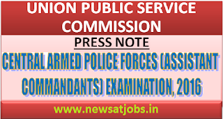 upsc+press+note+capf+exam+2016