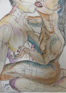arte erótico Jorge MARÍN ARTISTA COLOMBIANO