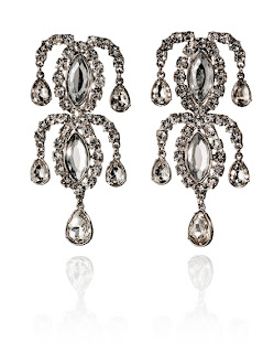 Silver Chandelier Earrings, Anna Dello Russo for H&M