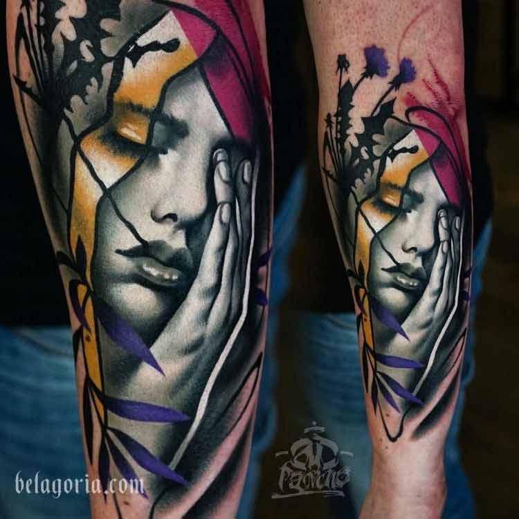 imagen de un tatuaje artistico espectacular