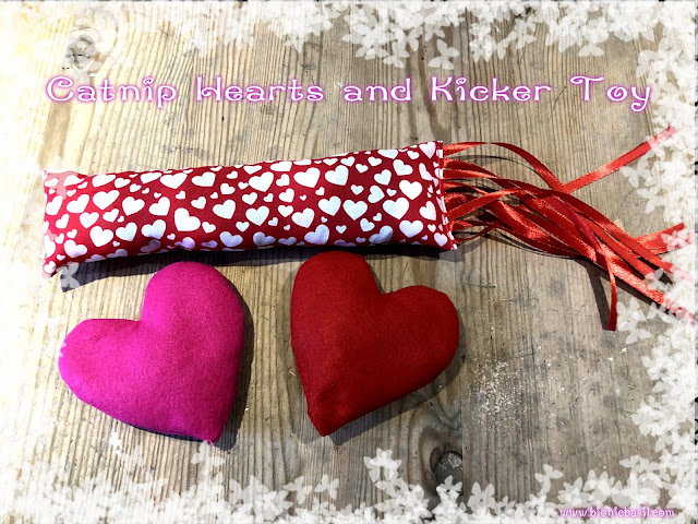 Catnip Hearts and Kicker Toy Crafting with Cats @BionicBasil