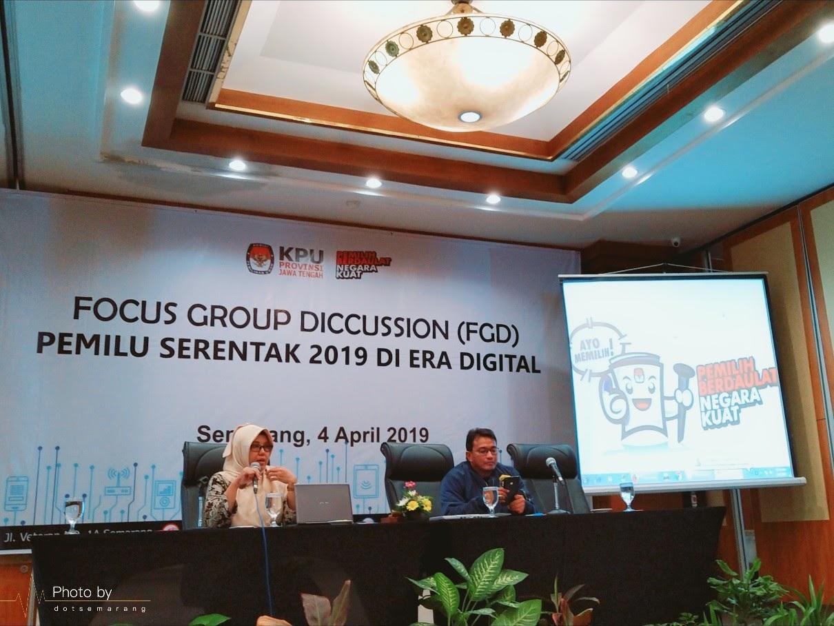 KPU Jawa Tengah Gelar Focus Group Discussion (FGD) Pemilu Serentak 2019 di Era Digital