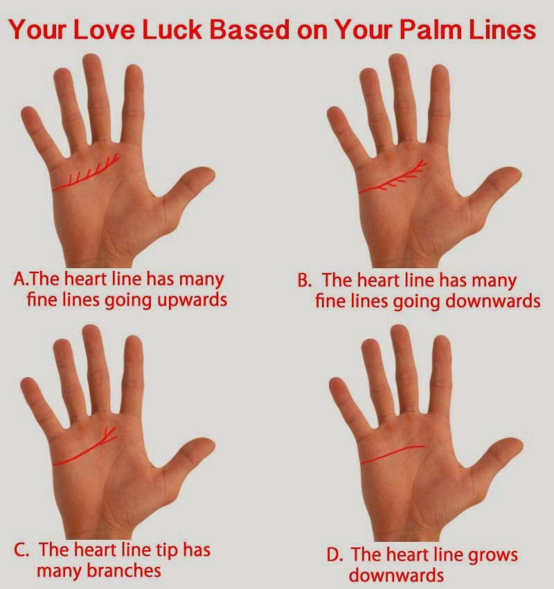 YOUR LOVE LUCK BASED ON YOUR PALM LINES   Best English ...