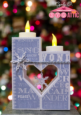 3d Candle with heart shaped cutout