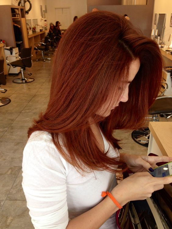 chestnut brown hair honey rich Copper tone