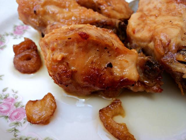 pollo, pollo frito ajos, receta, casera