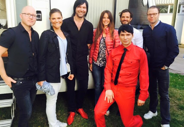 Roxette Concert show at Fredriksskans arena - Princess Victoria and Prince Daniel, Prince Carl Philip and Princess Sofia