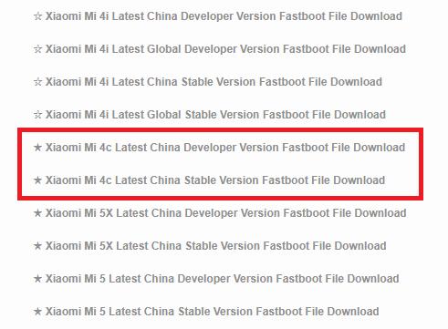 Cara Flash ROM Resmi Mi 4C Dari ROM Distributor Locked Bootloader Lengkap