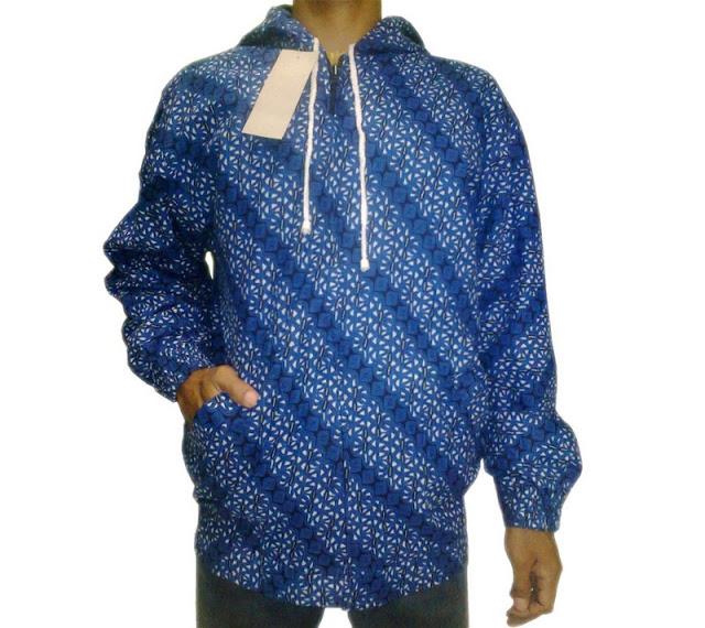 Jaket Batik Yogyakarta Murah Warna Biru