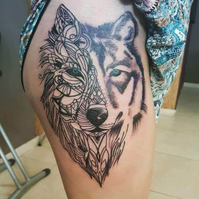 130 best wolf tattoo designs for men women 2018 tattoosboygirl. Black Bedroom Furniture Sets. Home Design Ideas