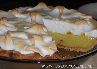 Recipe for Lemon Merinque Pie
