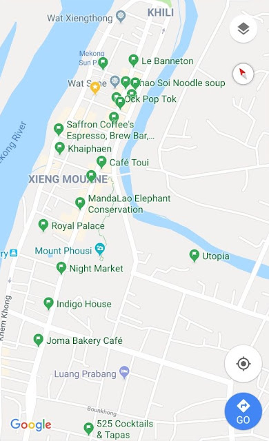 Map of Luang Prabang