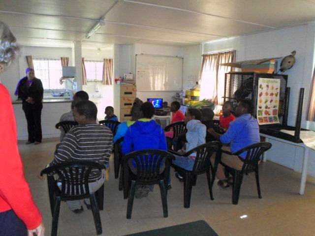 Hollywoodbets team presenting to the Khaya Cheshire Home