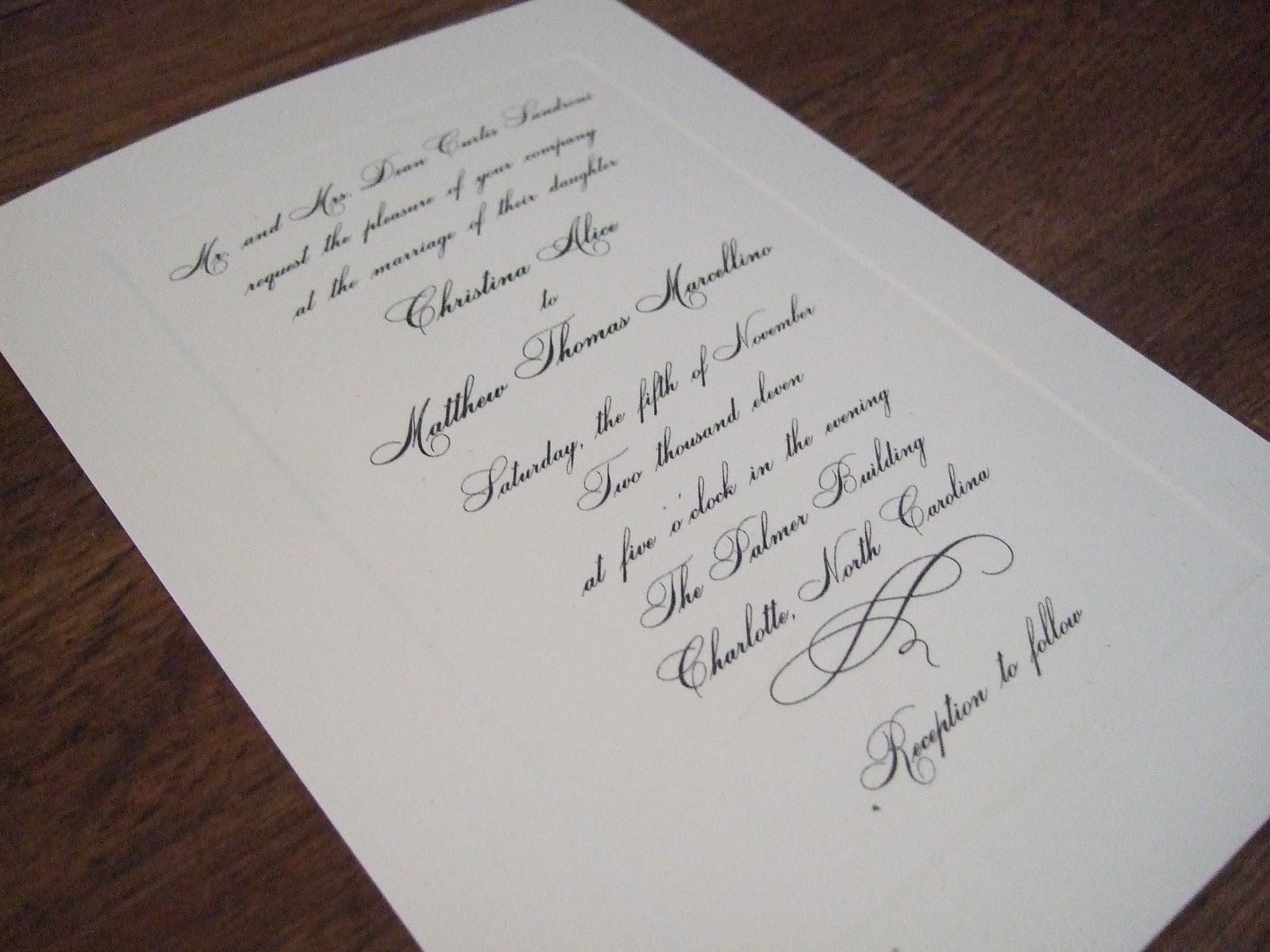Invitation Note For Wedding: Wedding Invitations