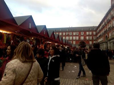 Mercado de Navidad en la Plaza Mayor, Madrid