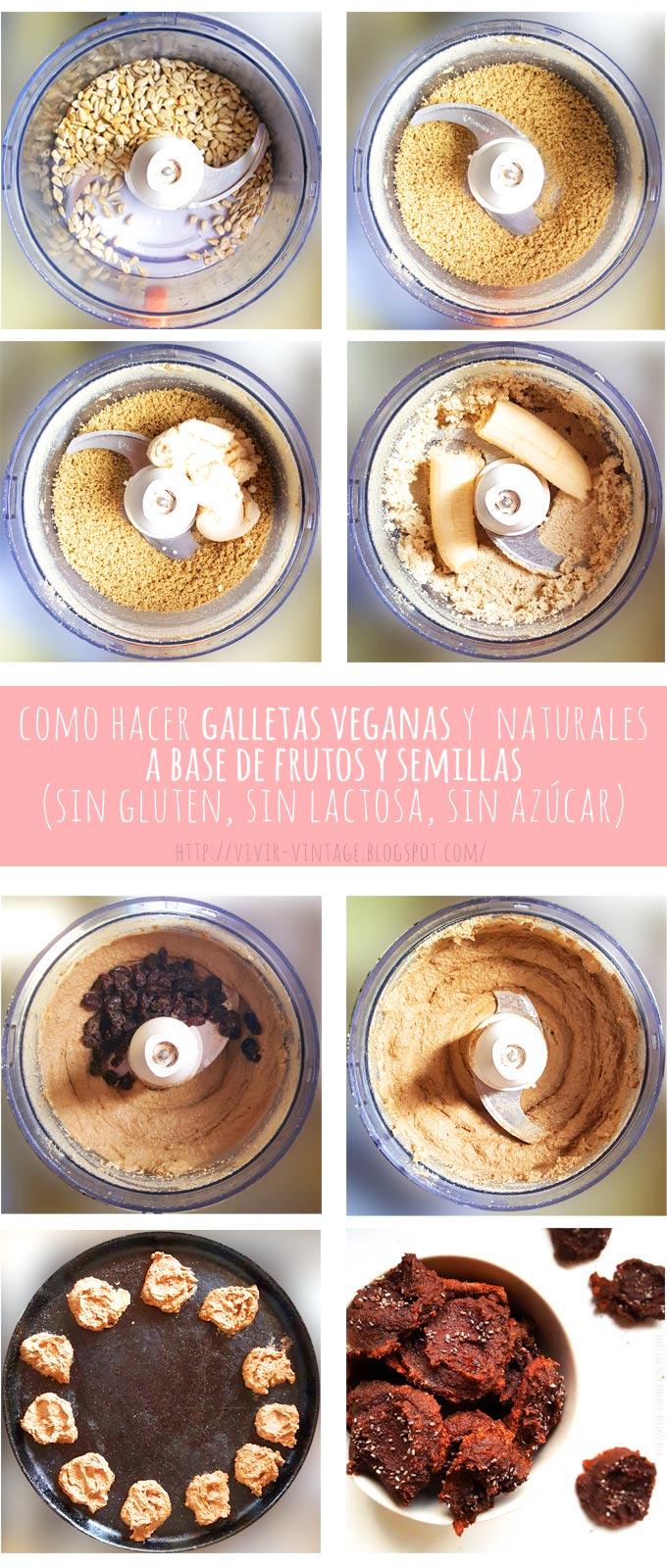 galletas veganas naturales fototutorial
