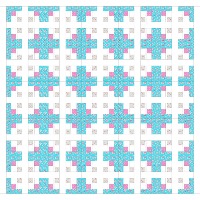 A Quilting Chick - Setting Block Quilt Layout