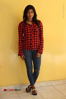 Actress Hebah Patel Stills in Blue Denim Jeans at Nanna Nenu Naa Boyfriends Movie Success Meet  0089.JPG