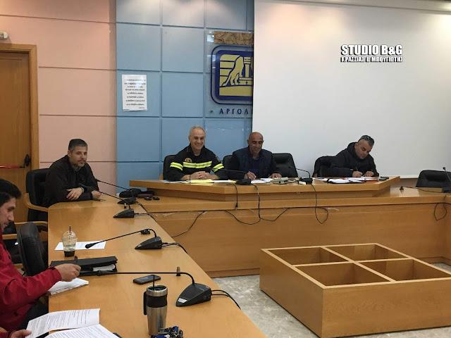 Συνεδρίασε το Συντονιστικό Τοπικό Όργανο Πολιτικής Προστασίας του Δήμου Ναυπλιέων