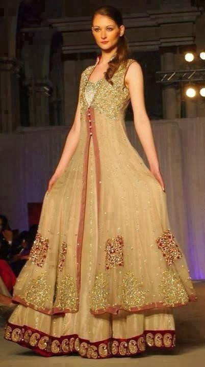 Exclusive Bridal Mehndi Dress Collection 2014 Mayoon Frills