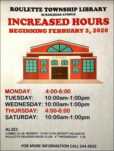 Roulette Township Library Hours