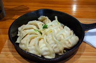 Potstickers at Auntie Dai's Dumplings in the Christchurch bus depot