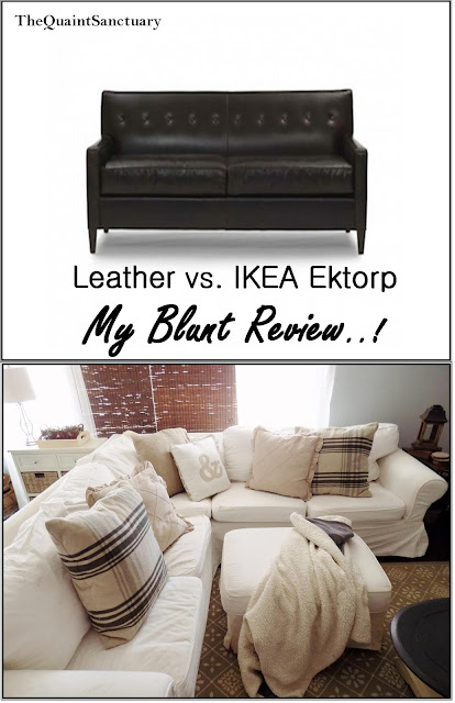 Vintage Style Kitchen Rugs And Why I Didn T Go Actual: The Quaint Sanctuary: { Leather Vs. IKEA Ektorp Sectional