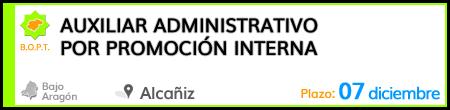 Auxiliar Administrativo por promoción interna en Alcañiz