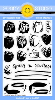 Sunny Studio Stamps: Introducing Timeless Tulips Photo-polymer Clear Stamps