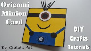 Origami Minion Card - DIY Paper Crafts