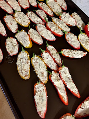 Filled Mini Sweet Peppers just before baking
