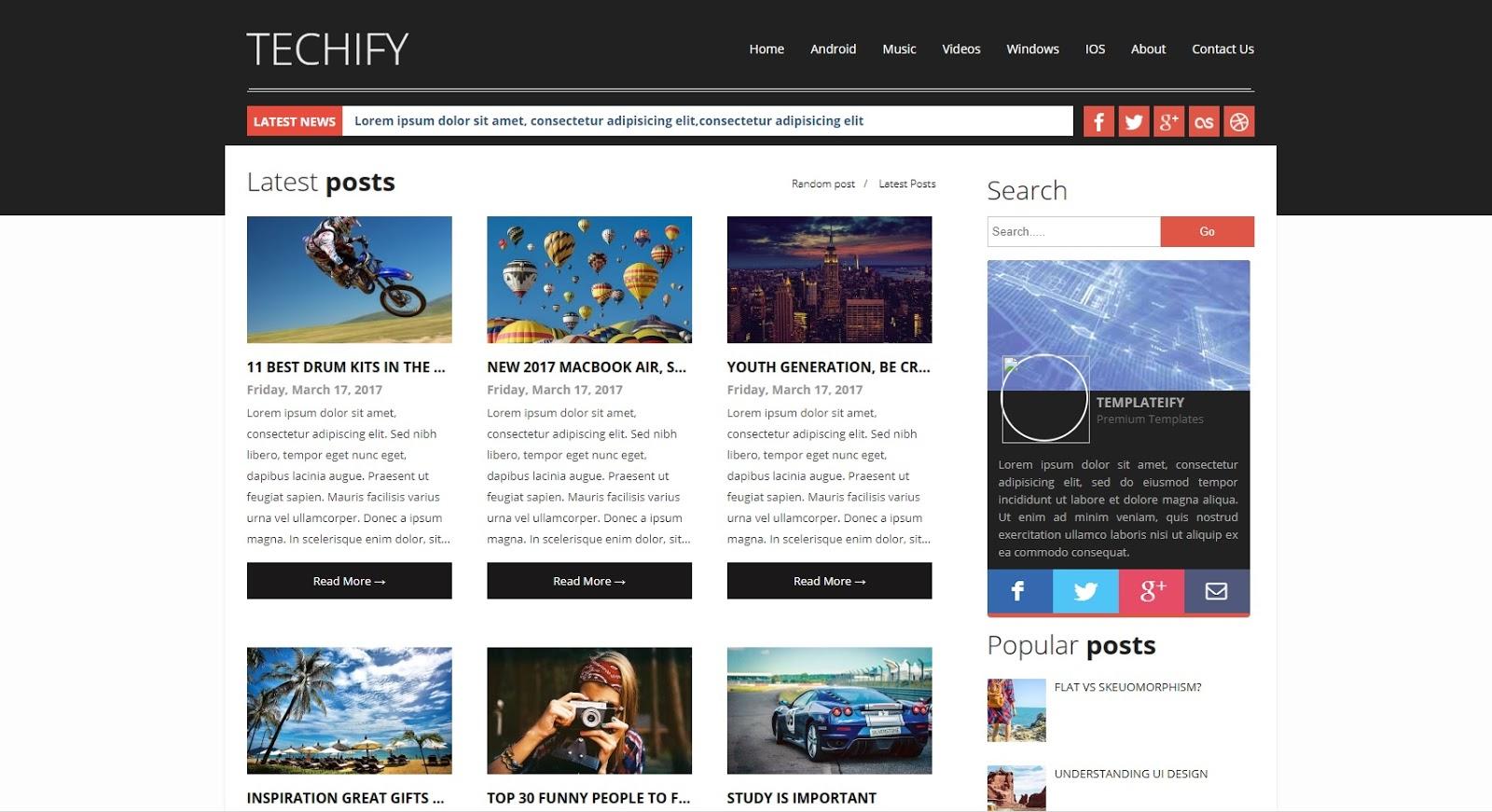 Techify Template Free Down