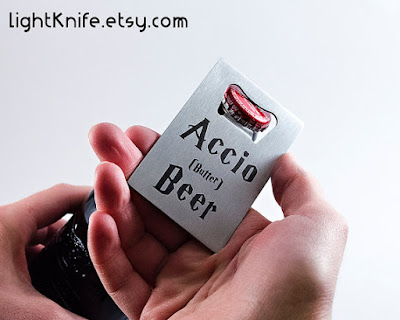Harry Potter Bottle Opener on Etsy, review on Tomes and Tequila blog