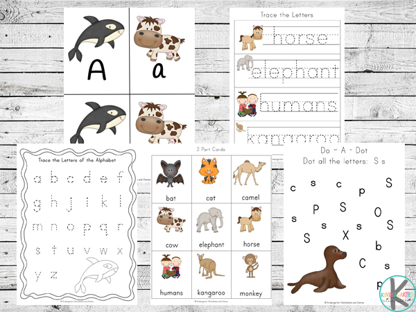 mammal alpahbet games to help toddler, preschool, prek, and kindergarten kids practice their ABCs