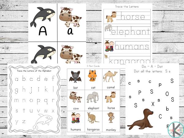 mammal alpahbet games to help toddler, preschool, prek, and kindergarten kids practice their ABCs