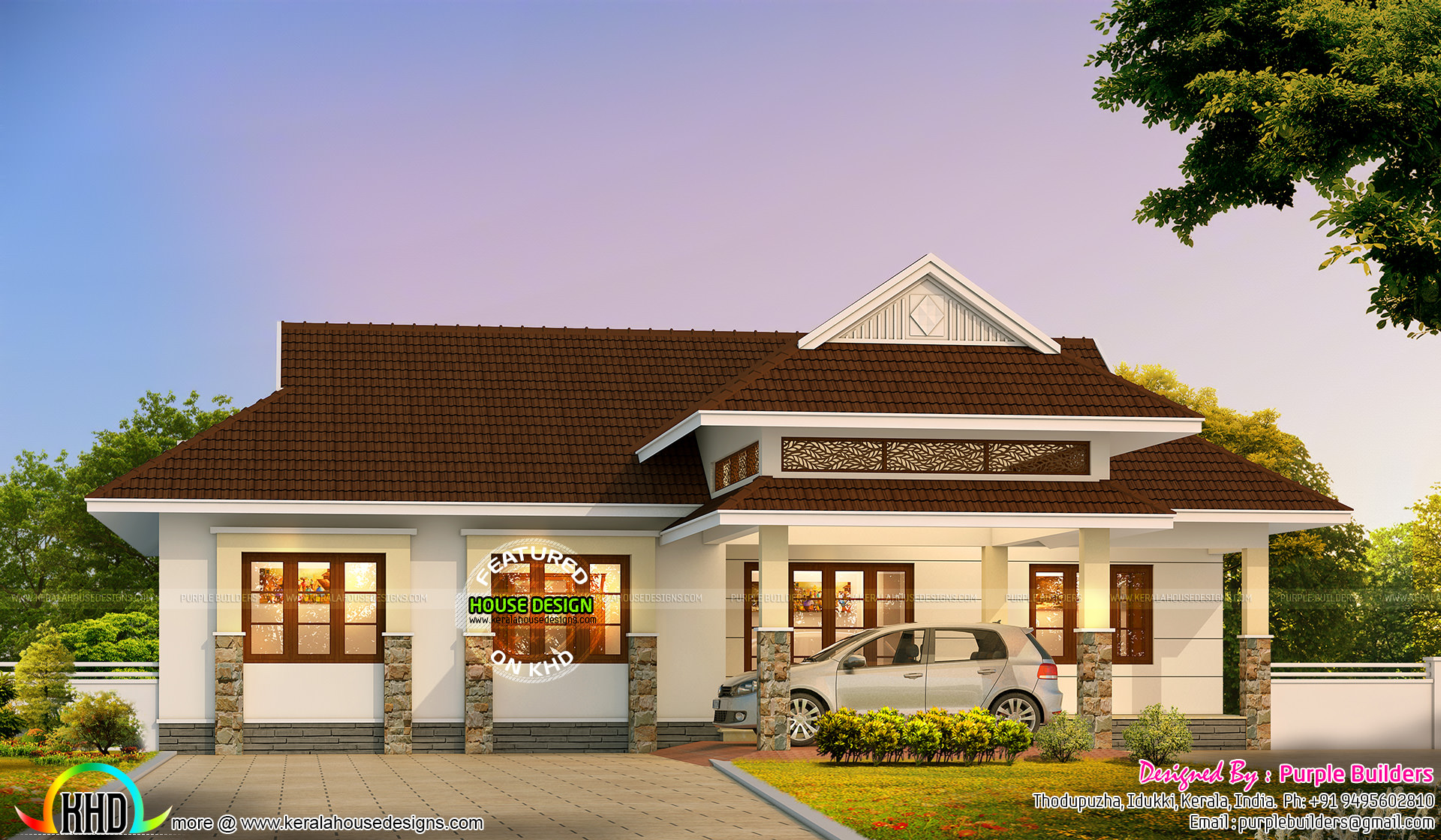 2016 style kerala home design kerala home design and for House plans with photos in kerala style