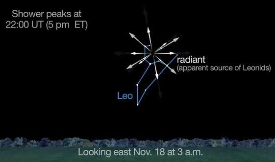 Leonid Meteor Radiant
