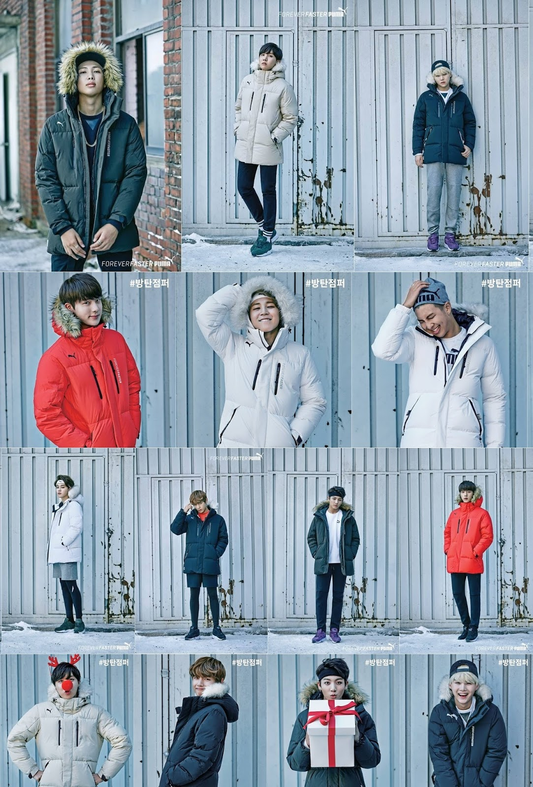Cool Fall Wallpaper Bts Put On Their Stylish Winter Fashion With Puma Daily