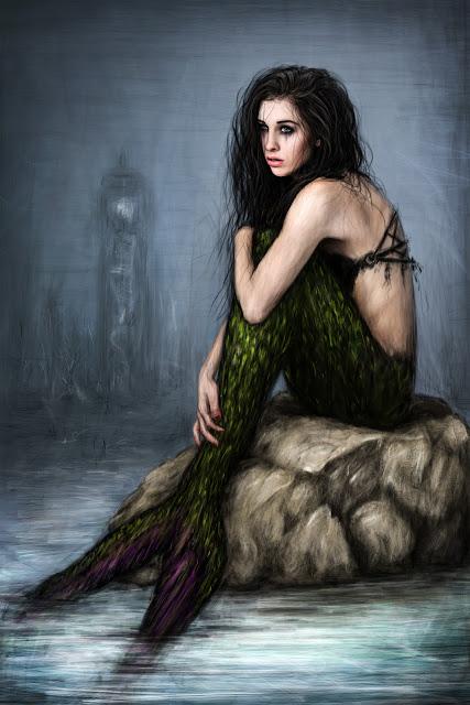 Mermaid artwork by Justin Gedak