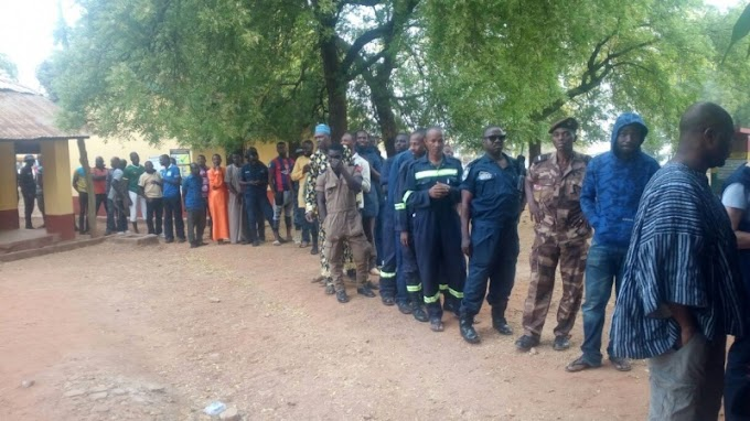 Security officers vandalise voting materials over missing names