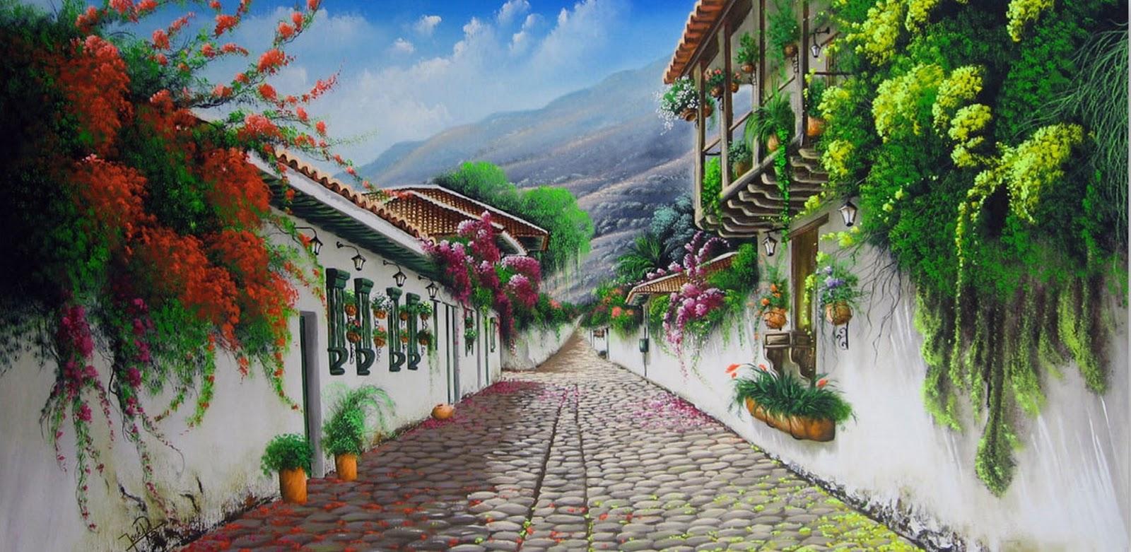 Calles Decoradas Con Flores