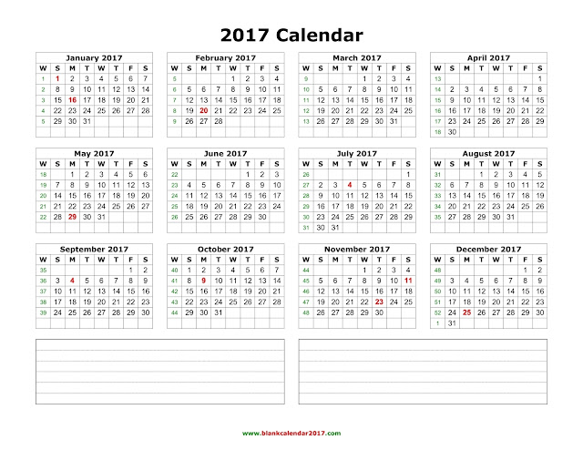 10+ Yearly Calendar 2017 Templates - PDF Word Excel - Get ...