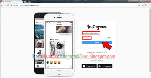 cara upload foto ke instagram lewat google chrome