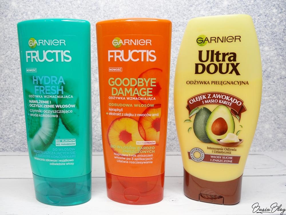 Odżywki do włosów Garnier Hydra Fresh, Goodbye Damage, Awokado i masło karite