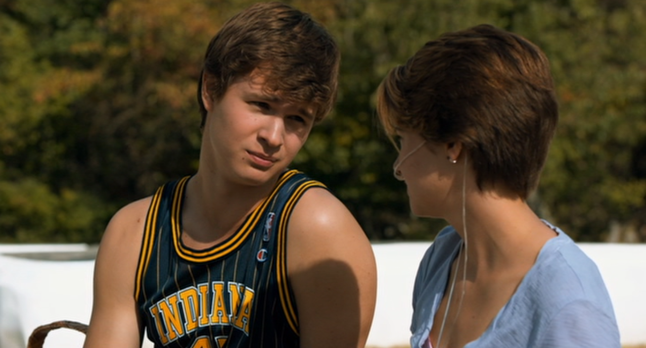 Ansel Elgert, Shailene Woodley in The Fault in Our Stars