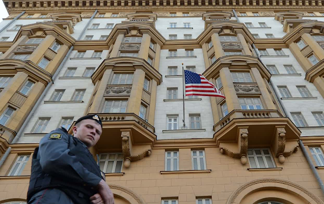 Suspected Russian spy found working at US embassy in Moscow