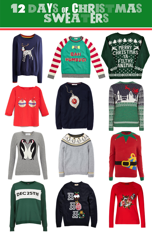 12 Christmas Sweaters
